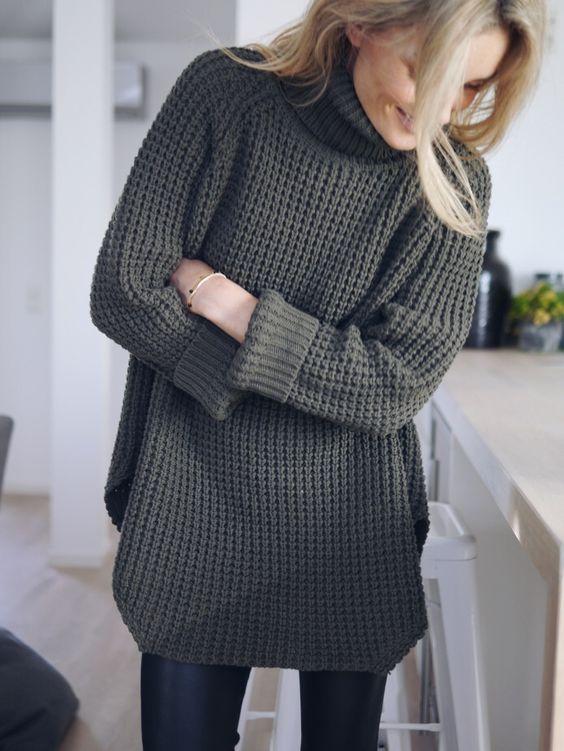 promo code cbd3b a366b La moda dei Leggings con il Maglione Lungo – Anna Venere ...