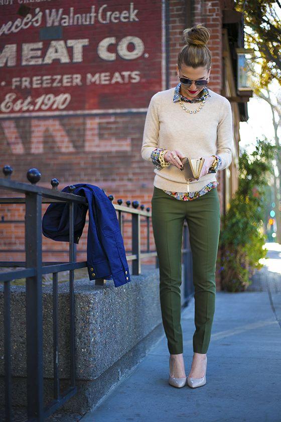 Come indossare e abbinare una giacca da campo verde oliva ...
