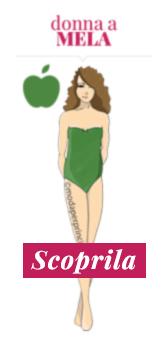 Donna a mela magra con poco seno