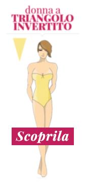 Donna a triangolo invertito con poco seno